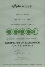 Trip Advisor EXCELLENCE Year 2010